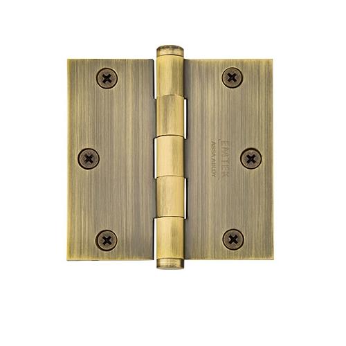 Emtek 3.5 square corner residential solid brass hinge 96113