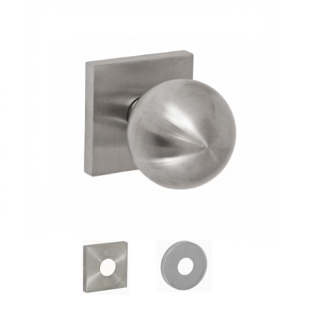Fusion Contemporary Cast Stainless Steel 3060 Door Knob with choice of Rose