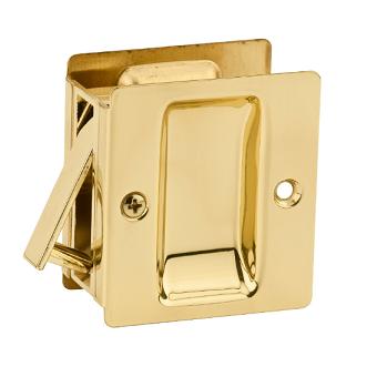 Kwikset Notch Passage Pocket Door Lock Polished Brass (3)