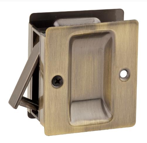 Kwikset Notch Passage Pocket Door Lock Antique Brass (5)