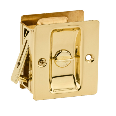 Kwikset Notch Privacy Pocket Door Lock Polished Brass (3)