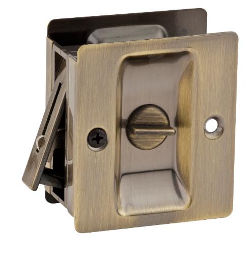 Kwikset Notch Privacy Pocket Door Lock Antique Brass (5)