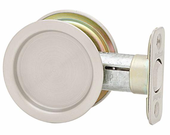 Kwikset Round Passage Pocket Door Lock Satin Nickel (15)