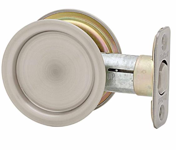 Kwikset Round Passage Pocket Door Lock Antique Nickel (15A)
