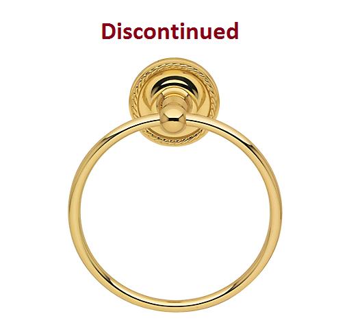 Baldwin Mystic Towel Ring Polished Brass (030)