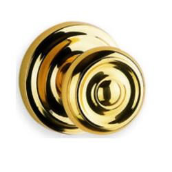 Omnia 426 Knob Latchset Polished Brass (US3)