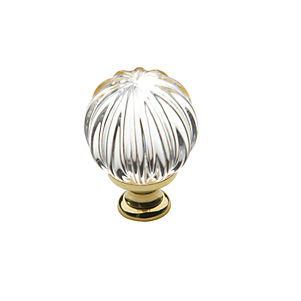 Baldwin 4304 Crystal Cabinet Knob shown in Polished Brass (030)