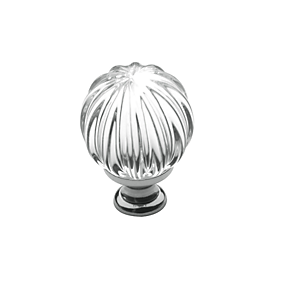 Baldwin 4304 Crystal Cabinet Knob shown in Polished Chrome (260)