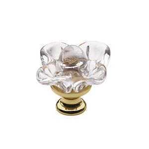 Baldwin 4308 Crystal Cabinet Knob shown in Polished Brass (030)