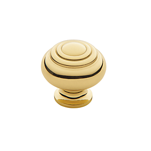 Baldwin Ring Deco Cabinet Knob (4445, 4446, 4447) shown in Polished Brass (030)