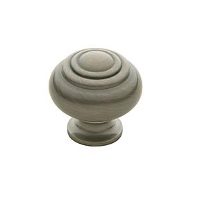 Baldwin Ring Deco Cabinet Knob (4445, 4446, 4447) shown in Antique Nickel (151)