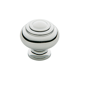 Baldwin Ring Deco Cabinet Knob (4445, 4446, 4447) shown in Polished Chrome (260)