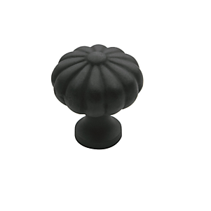 Baldwin Melon Cabinet Knob (4457, 4458, 4459) in Oil Rubbed Bronze (102)