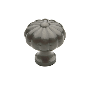 Baldwin Melon Cabinet Knob (4457, 4458, 4459) in Antique Nickel (151)