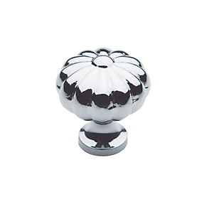 Baldwin Melon Cabinet Knob (4457, 4458, 4459) in Polished Chrome (260)