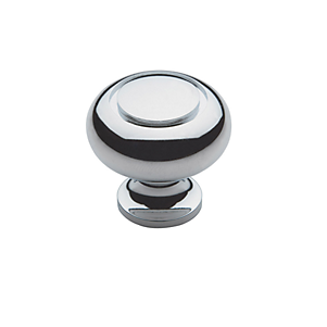 Baldwin Deco Cabinet Knob (4492, 4493, 4494) shown in Polished Chrome (260)