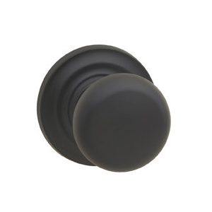 Omnia 458TD-10B Colonial Door Knob Set with Traditional Rose