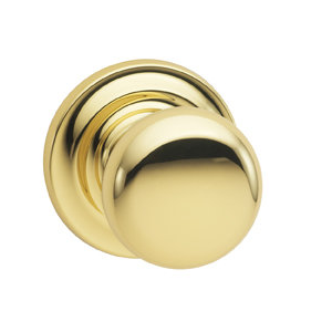 Omnia 458TD-3 Colonial Door Knob Set with Traditional Rose