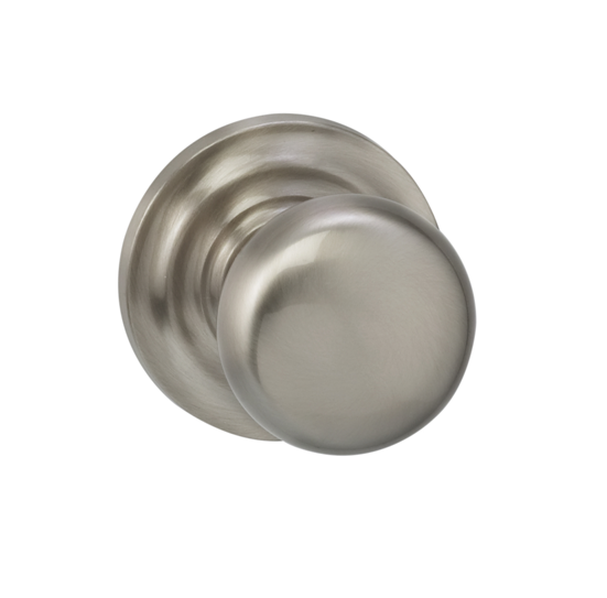Omnia 458TD-15 Colonial Door Knob Set with Traditional Rose