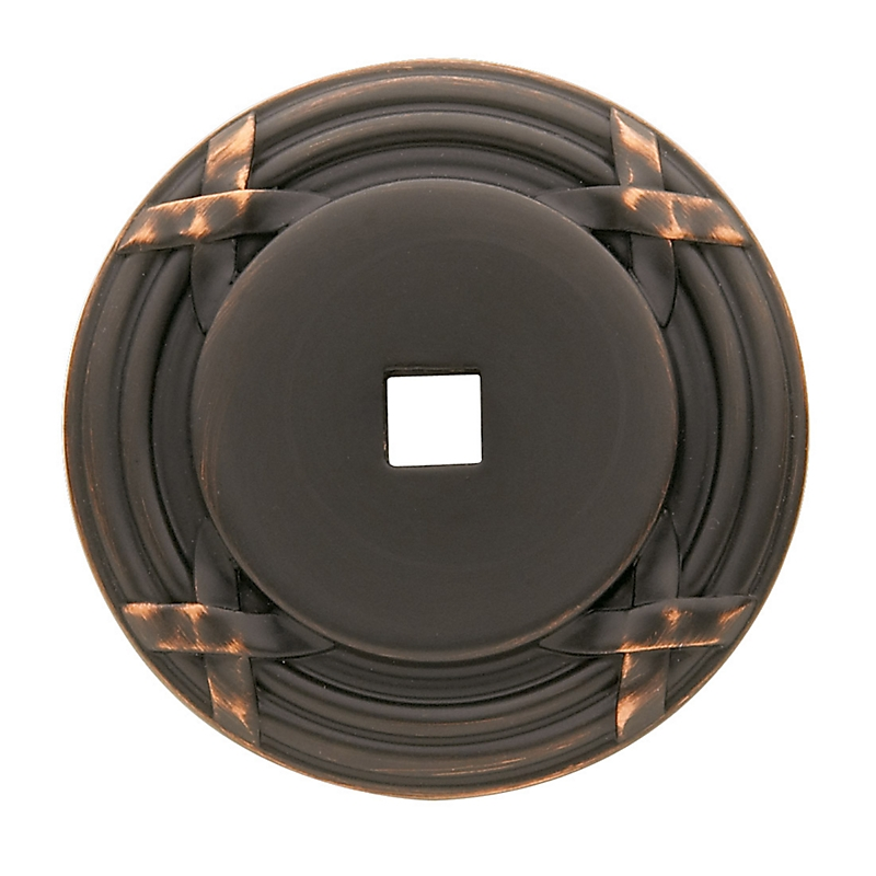 Baldwin Round Edinburgh Cabinet Knob Back Plate (4613) shown in Venetian Bronze