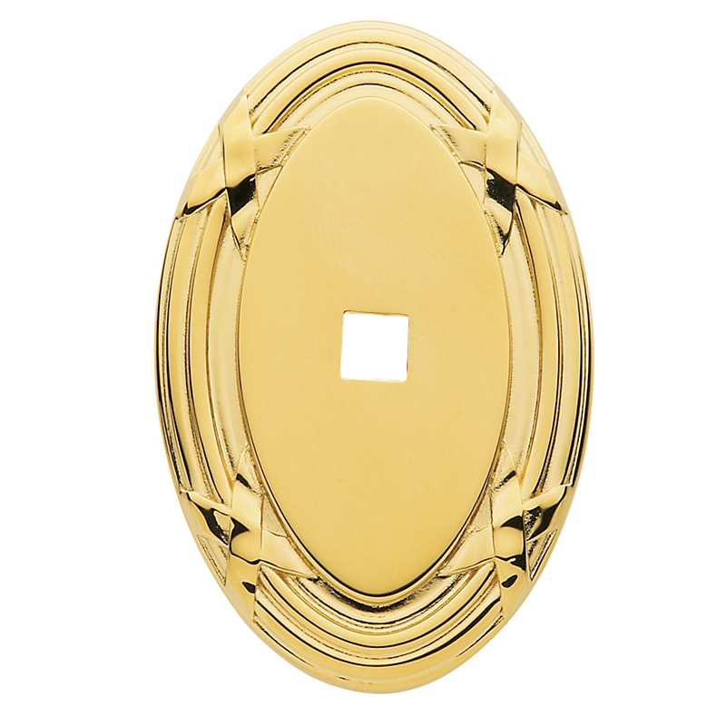 Baldwin Oval Edinburgh Cabinet Knob Back Plate 4619
