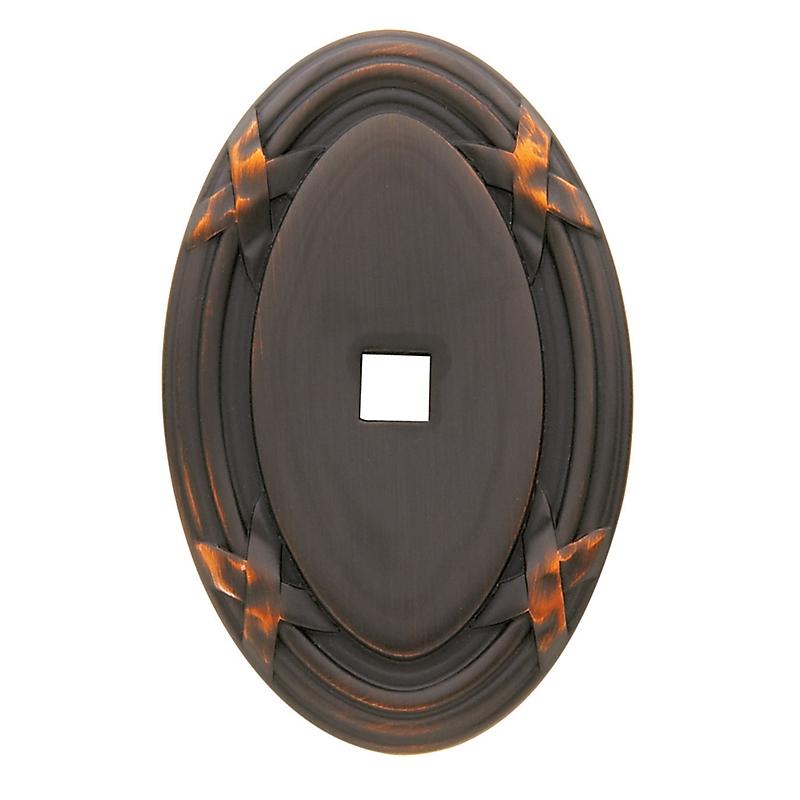 Baldwin Oval Edinburgh Cabinet Knob Back Plate 4619