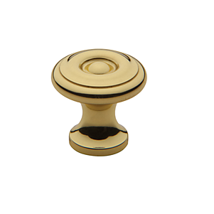 Baldwin Colonial Cabinet Knob (4650, 4655, 4660) shown in Polished Brass (030)