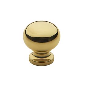 Baldwin Classic Cabinet Knob (4702, 4704, 4706) shown in Polished Brass (030)