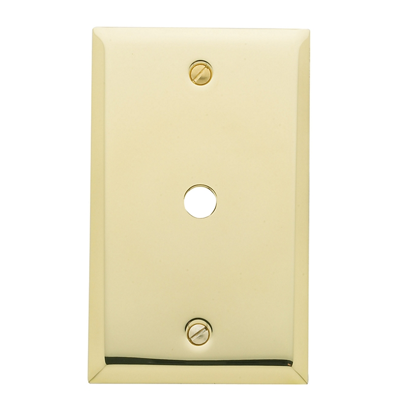 Baldwin 4764 Beveled Edge Cable Cover Switch Plate