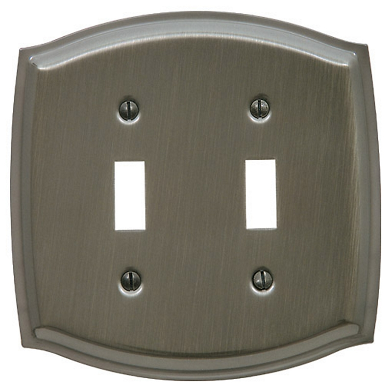 Baldwin 4766 Colonial Double Toggle Switch Plate