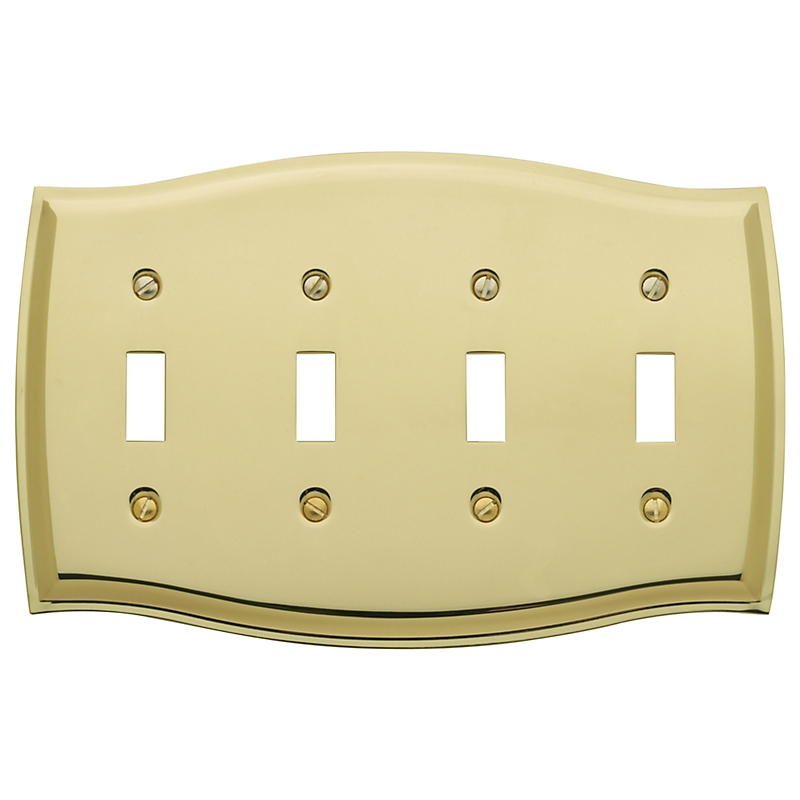 Baldwin Colonial Quad Toggle Switch Plate