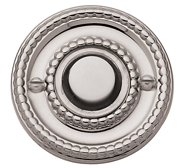Baldwin 4850 Beaded Bell Button in Lifetime Polished Nickel (055)