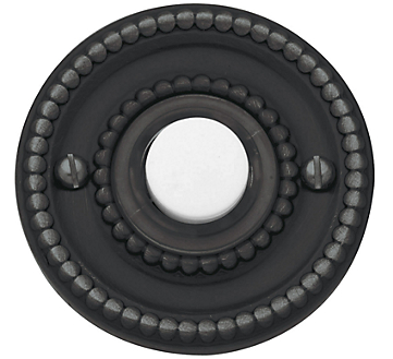 Baldwin 4850 Beaded Bell Button in Oil Rubbed Bronze (102)