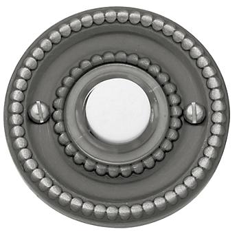 Baldwin 4850 Beaded Bell Button in Antique Nickel (151)