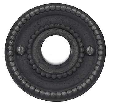 Baldwin 4850 Beaded Bell Button in Distressed Oil Rubbed Bronze (402)