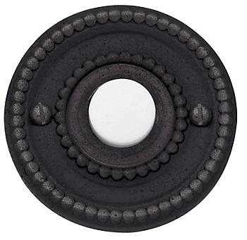 Baldwin 4850 Beaded Bell Button in Distressed Venetian Bronze (412)