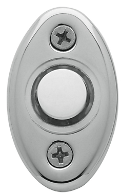 Baldwin 4852 Oval Bell Button in Polished Chrome (260)