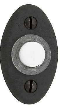 Baldwin 4852 Oval Bell Button in Distressed Oil Rubbed Bronze (402)