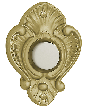 Baldwin 4857 Victorian Bell Button in Satin Brass (040)