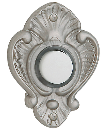 Baldwin 4857 Victorian Bell Button in Lifetime Satin Nickel (056)