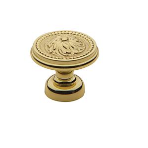 Baldwin Ornamental Cabinet Knob (4929, 4931, 4932) shown in Polished Brass (030)