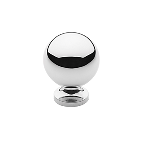 Baldwin Spherical Cabinet Knob (4960, 4961, 4968) shown in Polished Chrome (260)