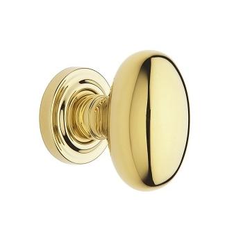 Baldwin Estate 5025 door Knob Set Non-Lacquered Brass (031)