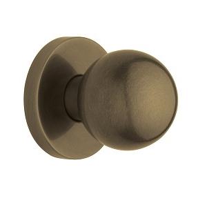 Baldwin Estate 5041 door knob Set Satin Brass and Black (050)