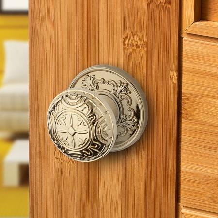 Baldwin Estate 5067 Door Knob Set w/R012 Rose Satin Nickel (150)