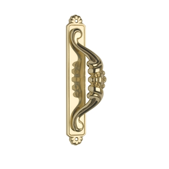 Omnia 515 Door Pull w/ Backplate Polished Brass (US3)