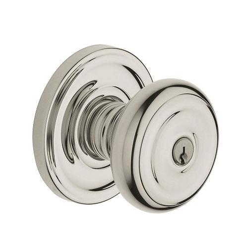 Baldwin 5210.ENTR Colonial Keyed Entry 055 Lifetime Polished Nickel