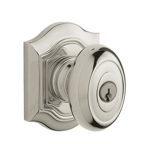 Baldwin 5237.ENTR Bethpage Keyed Entry 055 Lifetime Polished Nickel