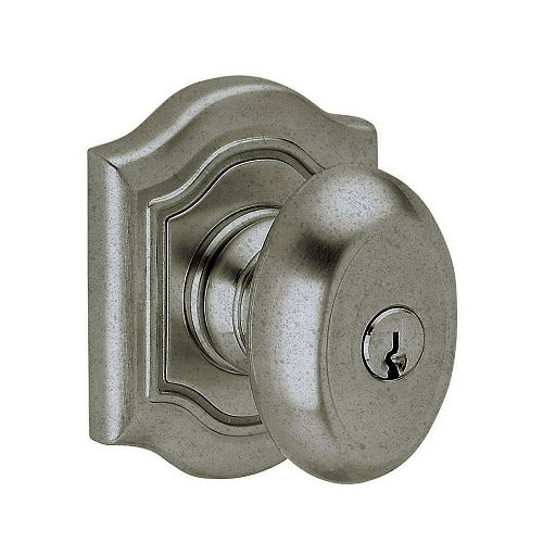 Baldwin 5237.ENTR Bethpage Keyed Entry 452 Distressed Antique Nickel