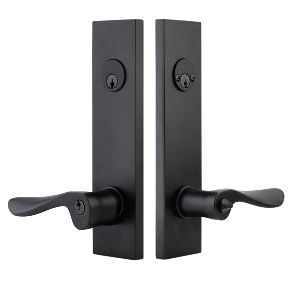 Emtek Modern Rectangular Two Point Keyed Entry With Choice
